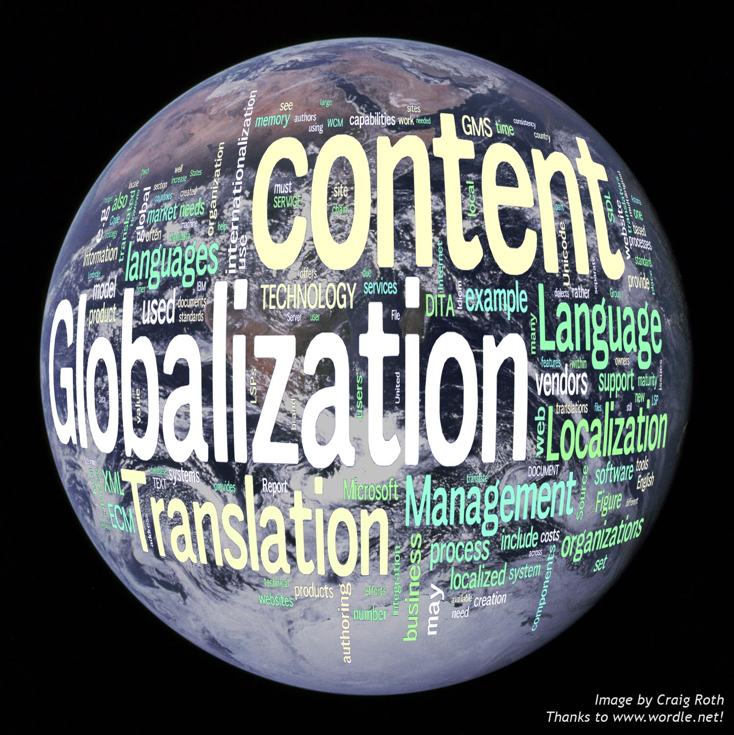Globalization World Image by Craig Roth www.wordle.net