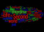 Craig's Virtual World Blog Entries envisioned by Wordle